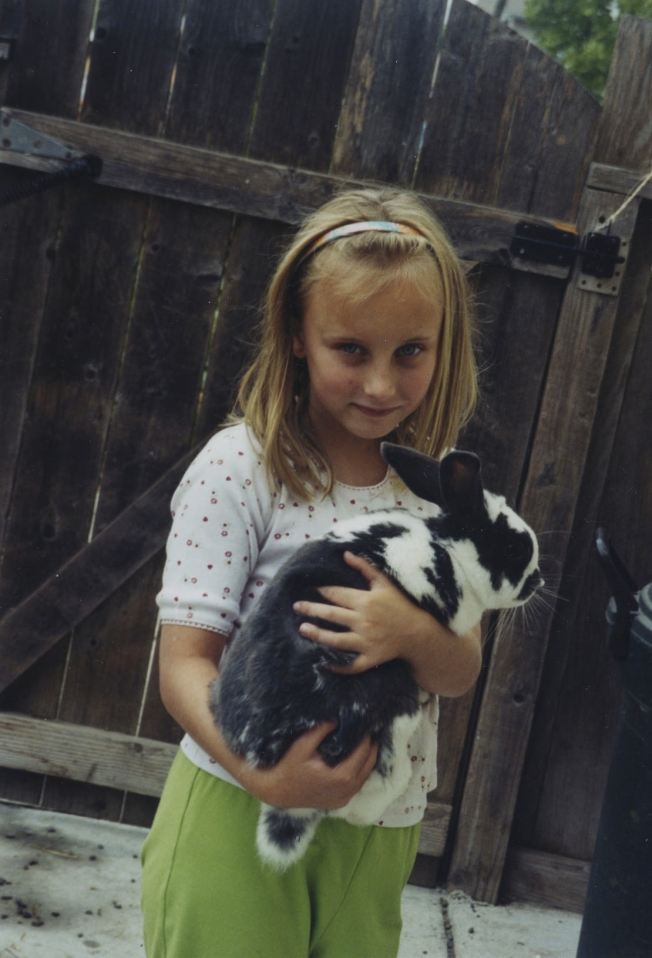 We learned to pick up and hold a pet rabbit safely.