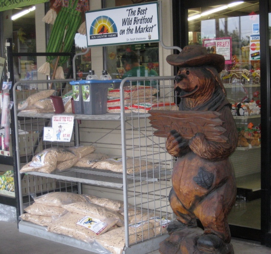 Feed store selling a huge variety of healthy dog foods.