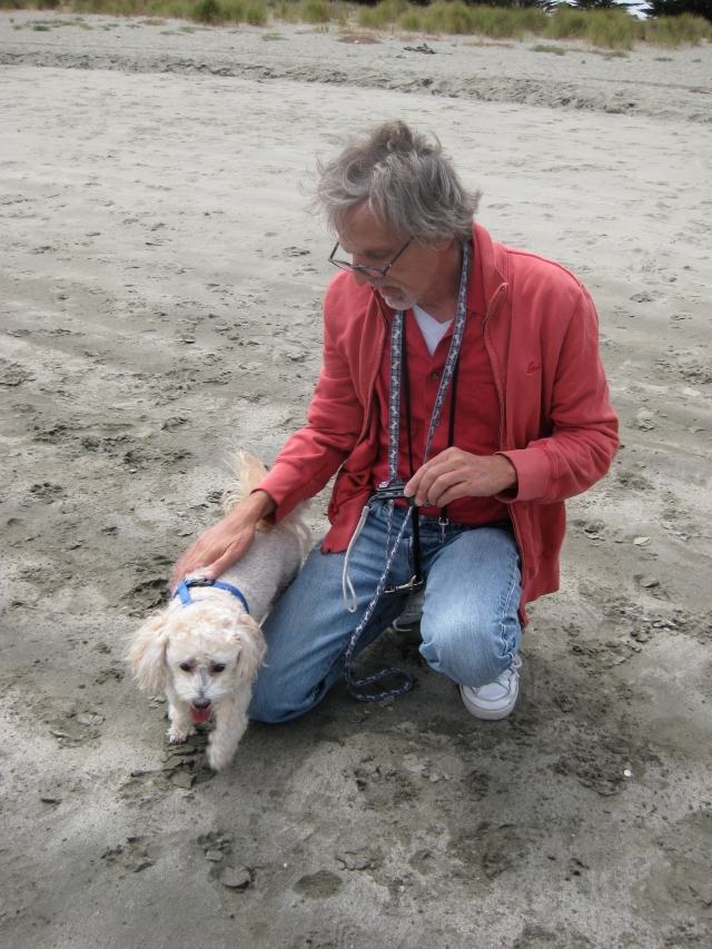 Marc with Sydney on Doran Beach