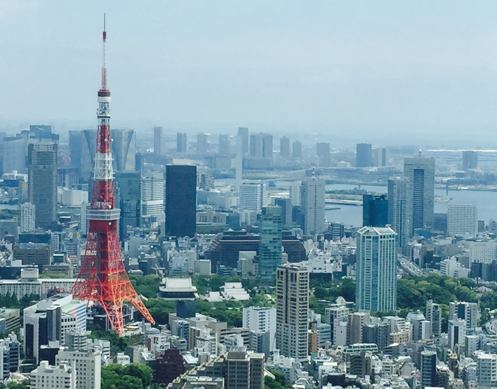 Wonderful 52th floor view from the Roppongi Hills, Tokyo